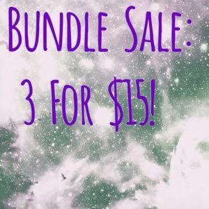 3 For $15 Bundle Sale!
